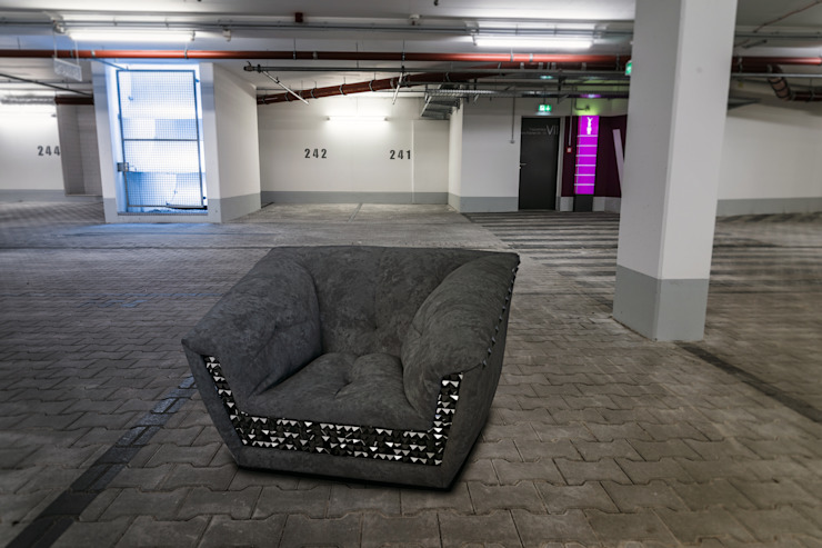 Fotel MUMMY od Delicious Concept Nowoczesny