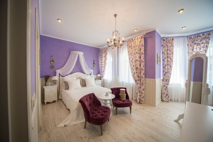 Eclectic style bedroom by Дизайн мастерская Елены Тимченко Eclectic
