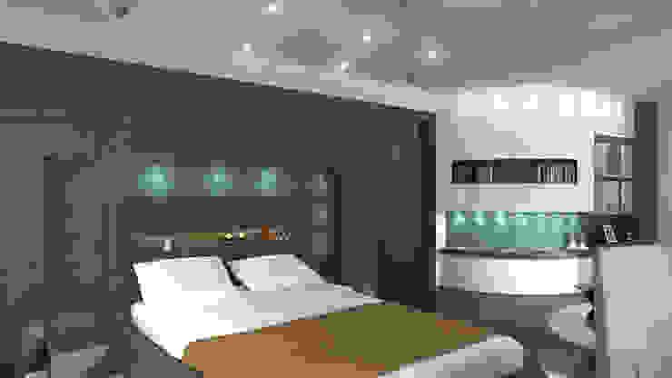 Latis Mimarlık ve İnşaat – Yatak Odası Dekorasyon:  tarz İç Dekorasyon,