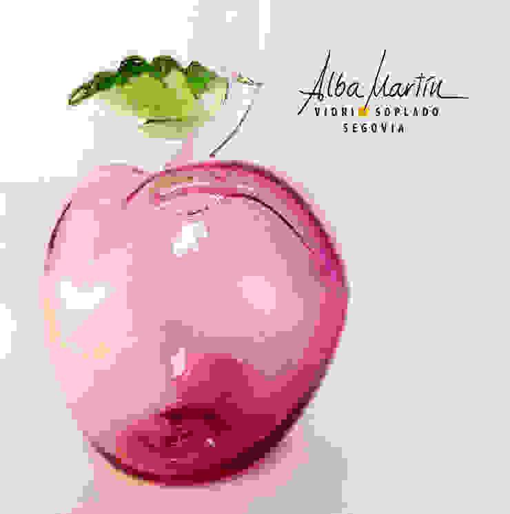 """Manzana"" vidrio soplado de Alba Martín Vidrio Soplado Moderno"