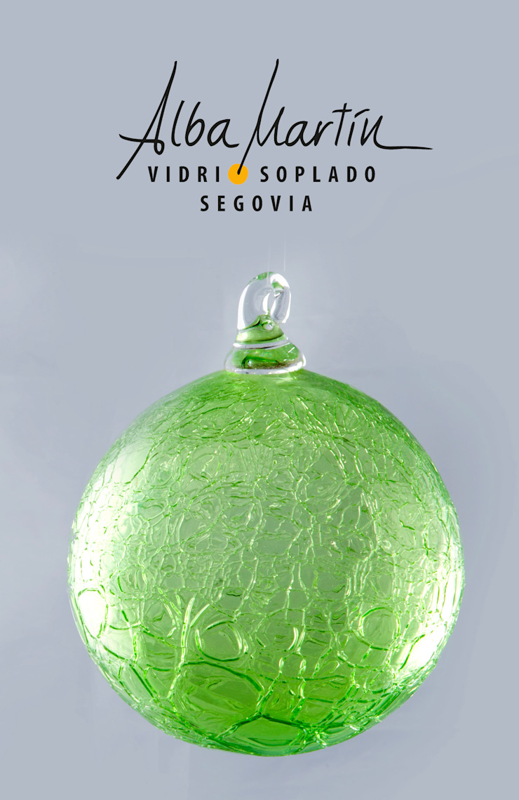 """""""Burbujas crackeladas"""" vidrio soplado de Alba Martín Vidrio Soplado Moderno"""
