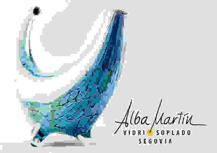"""Botella Andante"" vidrio soplado de Alba Martín Vidrio Soplado Moderno"