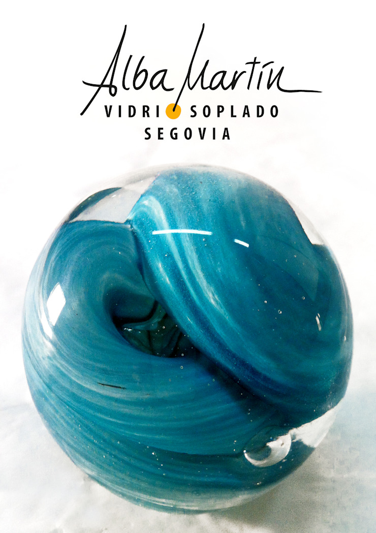 """Pisapapeles"" vidrio soplado de Alba Martín Vidrio Soplado Moderno"