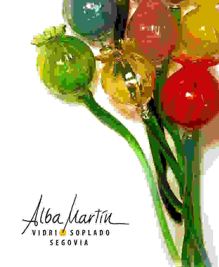 """""""Flores"""" vidrio soplado de Alba Martín Vidrio Soplado Rural"""