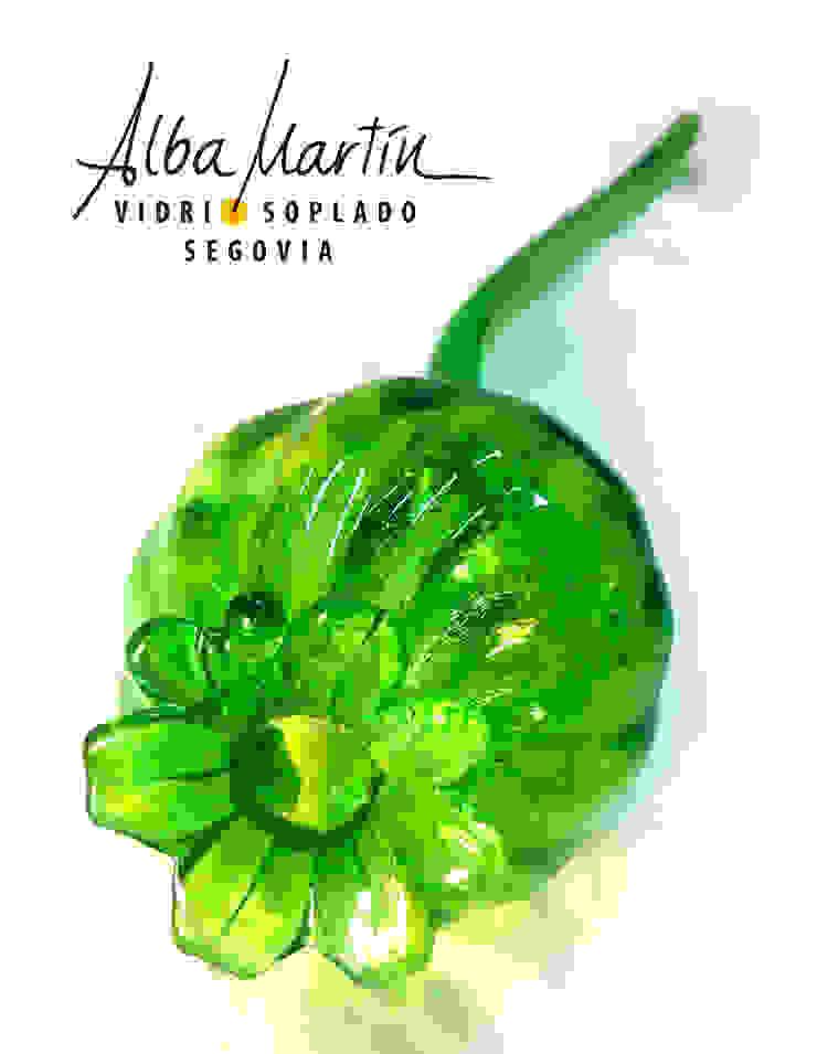 """""""Flores"""" vidrio soplado de Alba Martín Vidrio Soplado Rústico"""