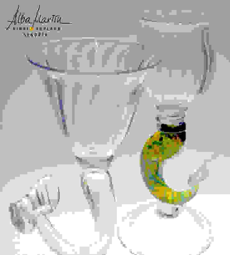 """""""Copas cola de sirena"""" vidrio soplado de Alba Martín Vidrio Soplado Moderno"""