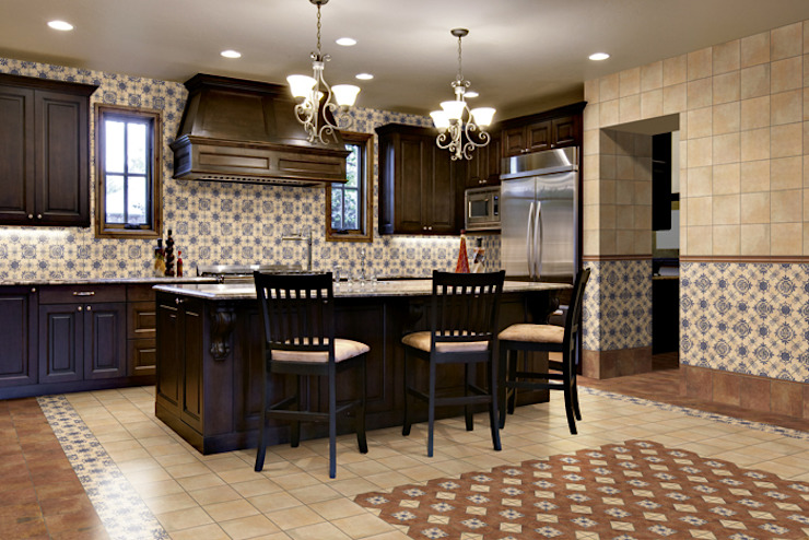 Rustic style kitchen by INTERAZULEJO Rustic