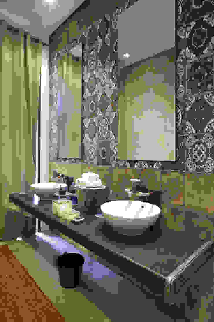 Bolonia Decor Socarrat Baños de estilo rústico de INTERAZULEJO Rústico