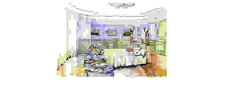 Эскиз интерьера спальни от DAR-studio
