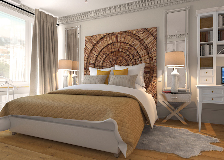 """Дизайн квартиры в комплексе """"Александрия"""" Спальня в стиле лофт от Студия Антона Базалийского Лофт"""