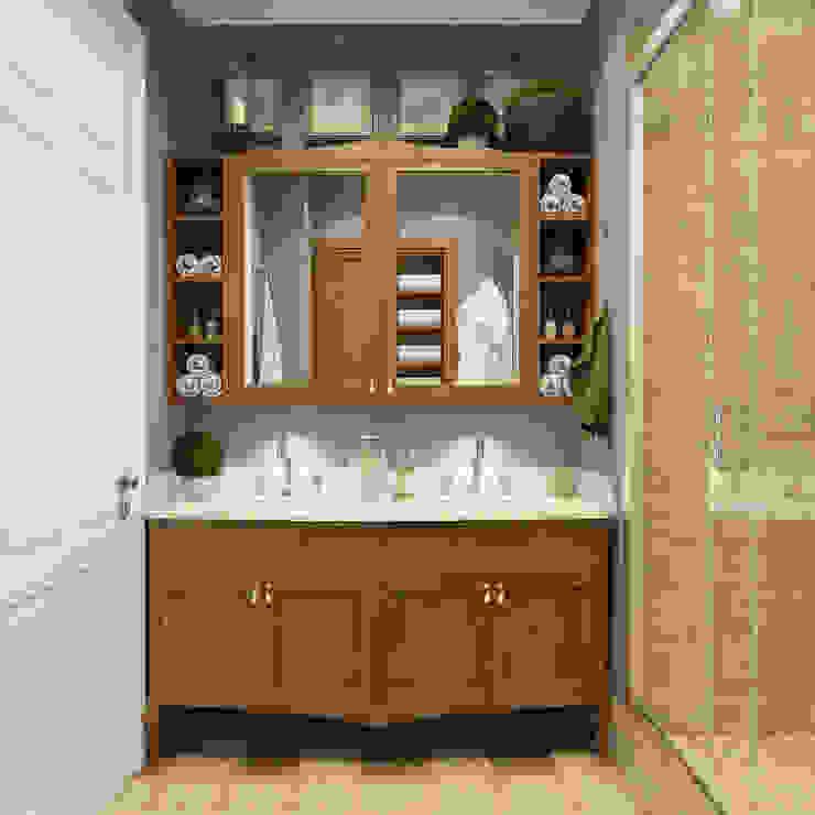 Дизайн квартиры в комплексе <q>Александрия</q> Ванная в стиле лофт от Студия Антона Базалийского Лофт