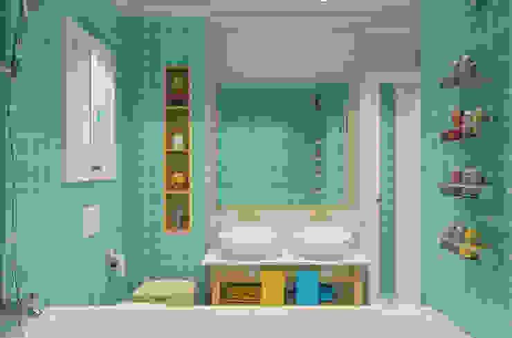 Industrial style bathroom by Студия Антона Базалийского Industrial