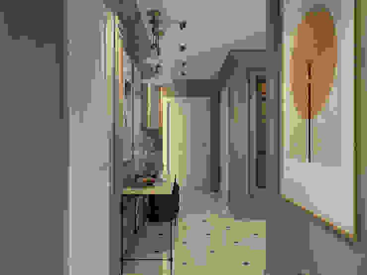 Дизайн квартиры в комплексе <q>Александрия</q> Коридор, прихожая и лестница в стиле лофт от Студия Антона Базалийского Лофт