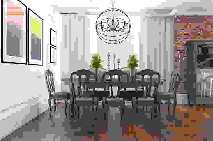 Дизайн квартиры в комплексе <q>Александрия</q> Столовая комната в стиле лофт от Студия Антона Базалийского Лофт