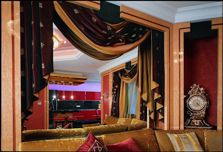 Золотой ар-Деко Гостиная в классическом стиле от Studio B&L Классический