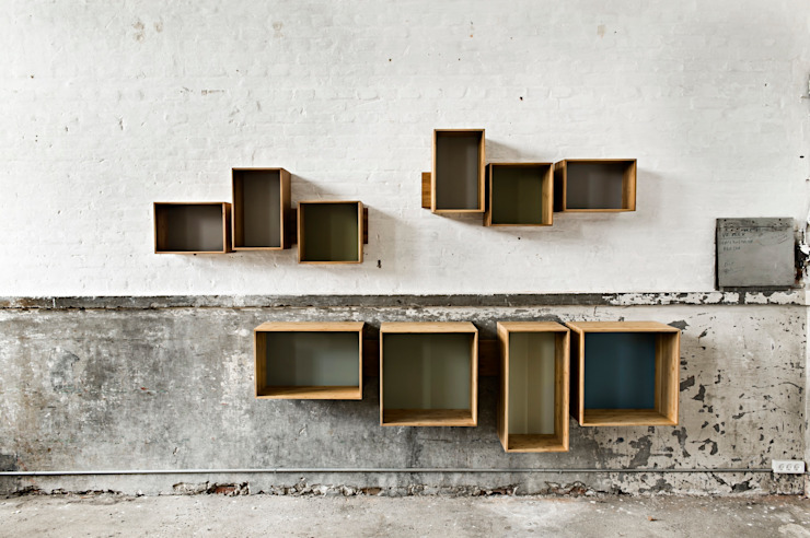 SJ Bookcase Large & Midi: scandinavian  by We Do Wood, Scandinavian