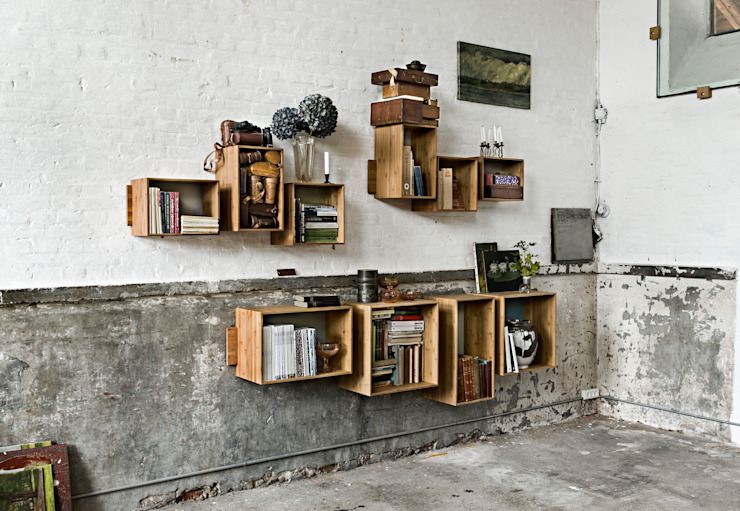 SJ Bookcase Large & Midi por We Do Wood Escandinavo