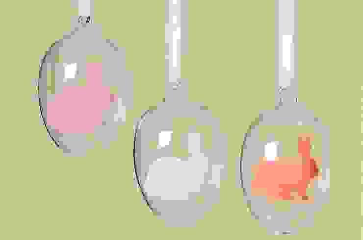 Pisanki wiszące - jajka szklane komplet 3szt. od Silly Design - prezentowa porcelana Skandynawski