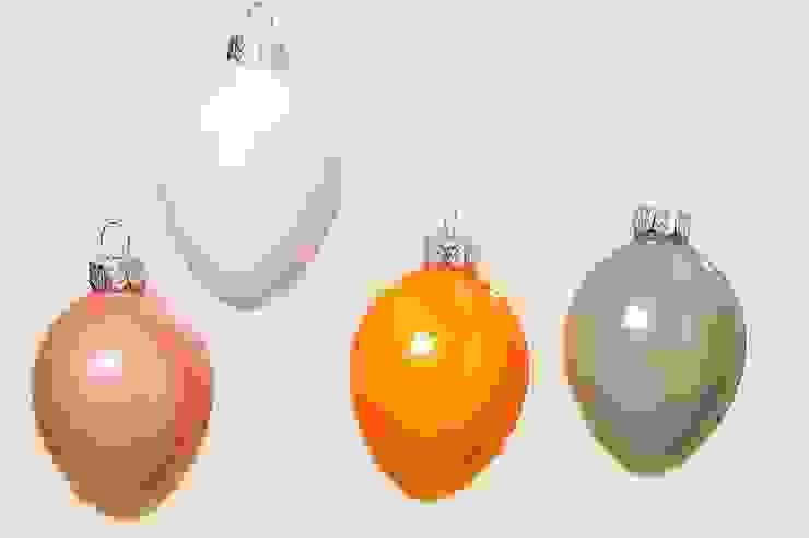 Wielkanocne jajka - bombki szklane komplet 8szt. od Silly Design - prezentowa porcelana Skandynawski