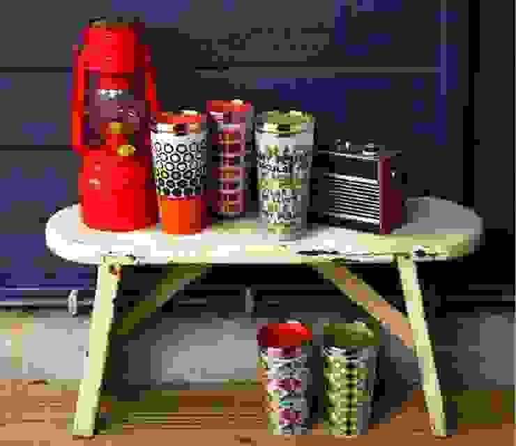 Kubki termiczne z podwójnymi ściankami - stal i porcelana od Silly Design - prezentowa porcelana Nowoczesny