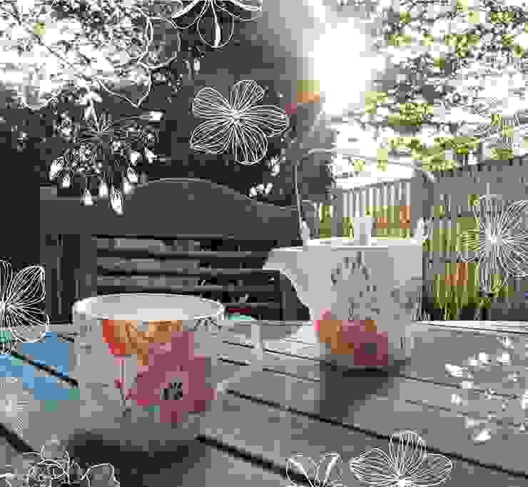 Dzbanek z kubkiem Tea for One Białe Kwiaty Silly Design - prezentowa porcelana KuchniaSztućce, naczynia i szkło