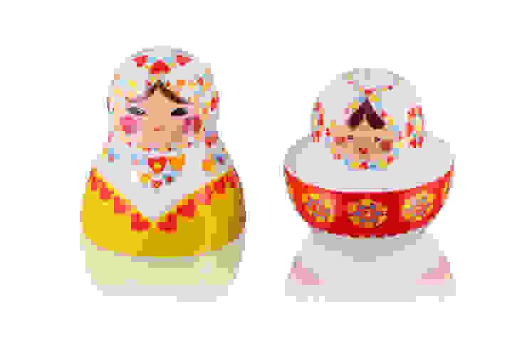 Solniczka i pieprzniczka Matrioszka: styl , w kategorii  zaprojektowany przez Silly Design - prezentowa porcelana,Rustykalny