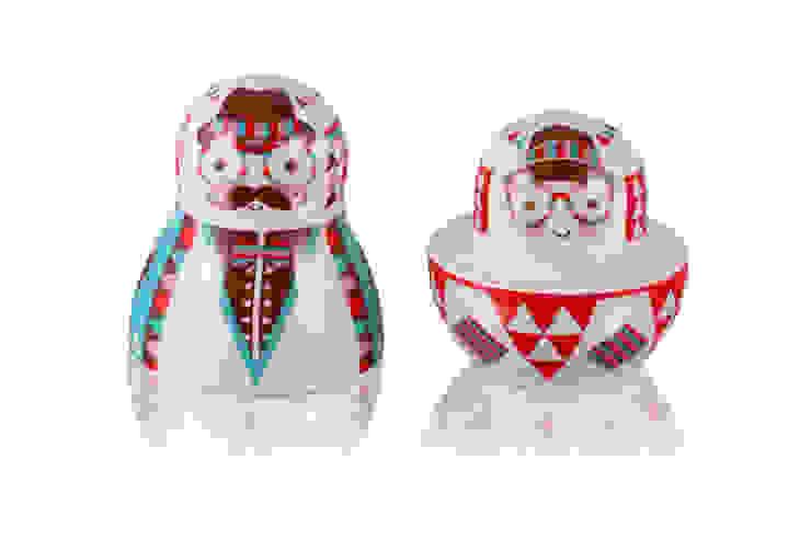 Solniczka i pieprzniczka Matrioszka od Silly Design - prezentowa porcelana Industrialny