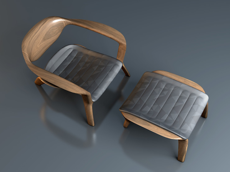 CVKDesign – icona lounge chair: modern tarz , Modern