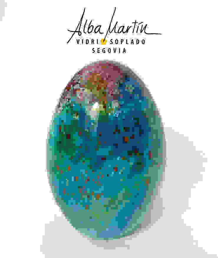 """Huevos de critter"" Vidrio Soplado de Alba Martín Vidrio Soplado Moderno"