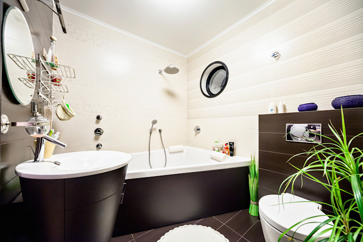 Проект 3х комнатной квартиры-студии 95 м² Ванная комната в стиле минимализм от SAZONOVA group Минимализм