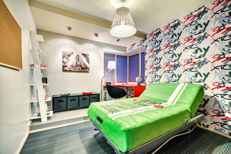 Проект 3х комнатной квартиры-студии 95 м² Детские комната в эклектичном стиле от SAZONOVA group Эклектичный