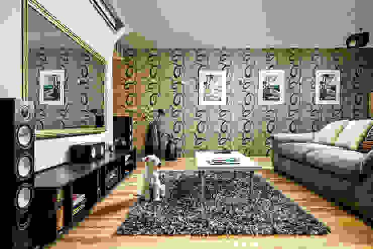 SAZONOVA group Eclectic style living room