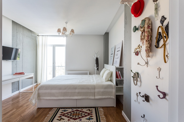 Scandinavian style bedroom by SAZONOVA group Scandinavian