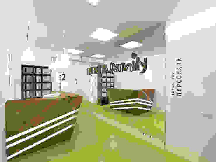 Стоматология <q>Denta Family</q> Кабинеты врачей в стиле минимализм от ЙОХ architects Минимализм
