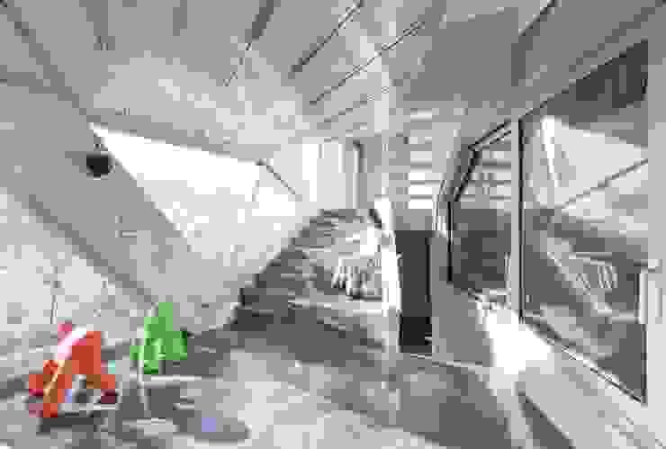 HWA HUN - 자연이 점거한 작은성 모던스타일 거실 by IROJE KIMHYOMAN 모던