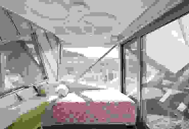 HWA HUN - 자연이 점거한 작은성 모던스타일 침실 by IROJE KIMHYOMAN 모던