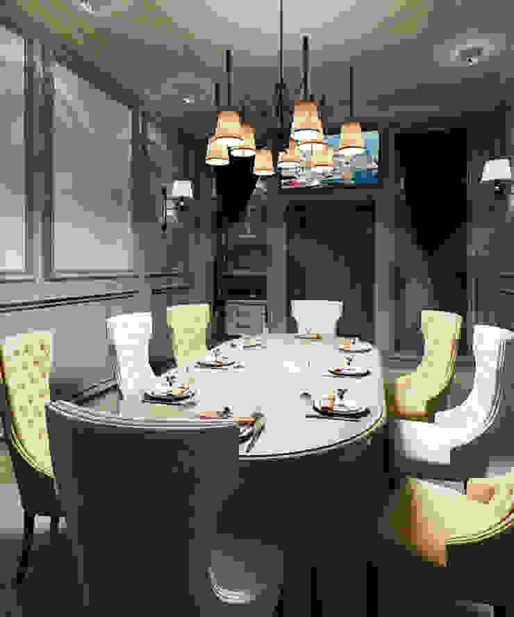 Нежный ВИП-зал ресторана. Бары и клубы в эклектичном стиле от ЙОХ architects Эклектичный