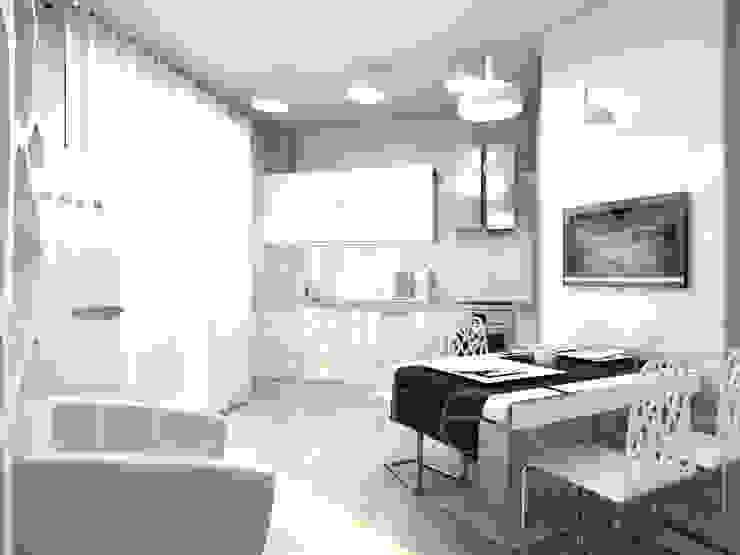 """Квартира """"TOTAL WHITE"""" Кухня в стиле минимализм от ЙОХ architects Минимализм"""