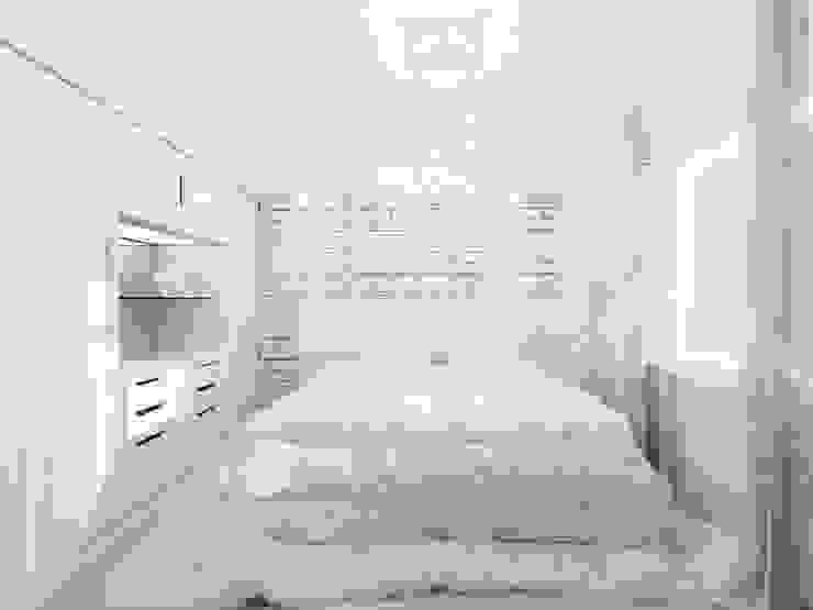 Квартира <q>TOTAL WHITE</q> Спальня в стиле минимализм от ЙОХ architects Минимализм