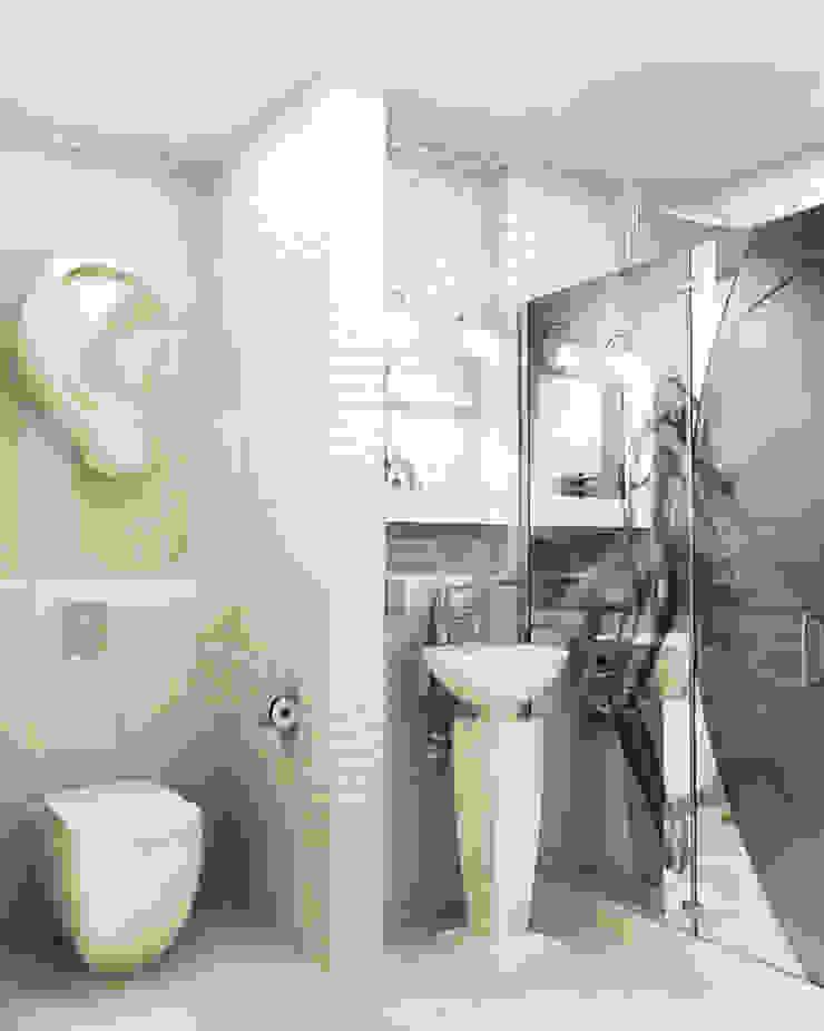 Квартира <q>TOTAL WHITE</q> Ванная комната в стиле минимализм от ЙОХ architects Минимализм