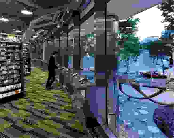 TSUTAYA TOKYO ROPPONGI の 窪田建築都市研究所 有限会社