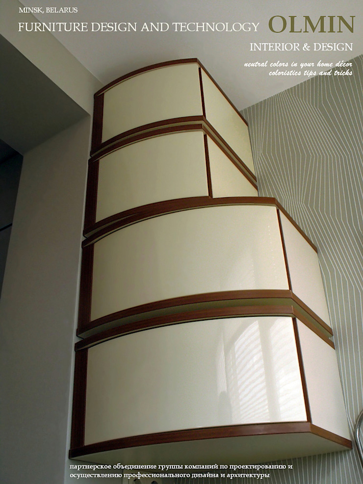 Дизайн – шкафы, тумбочки и пр. ИП OLMIN - Архитектурная студия Олега Минакова Балкон, веранда и террасаМебель МДФ Белый