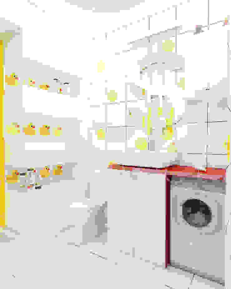Квартира <q>POPart&cocaCOla</q> Ванная комната в эклектичном стиле от ЙОХ architects Эклектичный