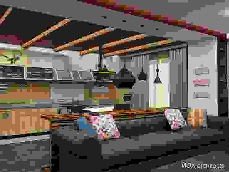 """Квартира """"Ироничный Лондон"""" Гостиные в эклектичном стиле от ЙОХ architects Эклектичный"""