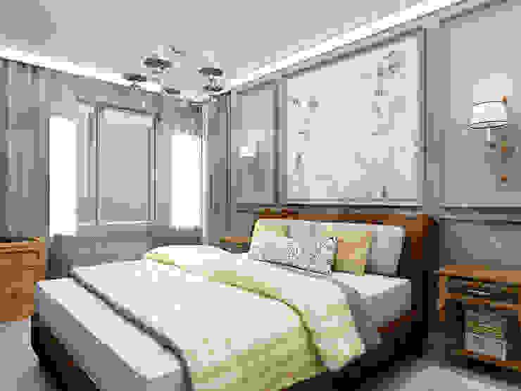 Квартира <q>Ироничный Лондон</q> Спальня в эклектичном стиле от ЙОХ architects Эклектичный