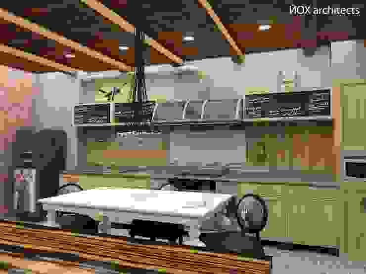 Квартира <q>Ироничный Лондон</q> Кухня в стиле лофт от ЙОХ architects Лофт