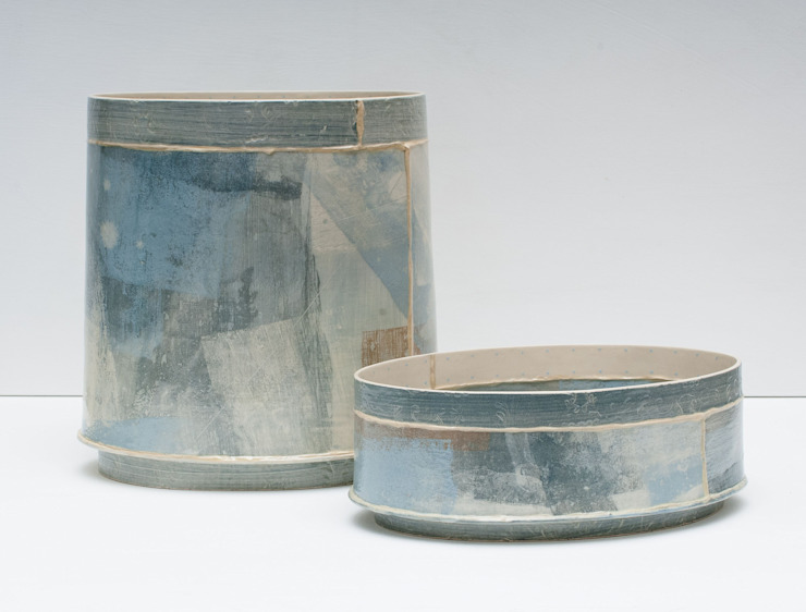 large oval vessel and short oval vessel: modern  by Emily-Kriste Wilcox, Modern