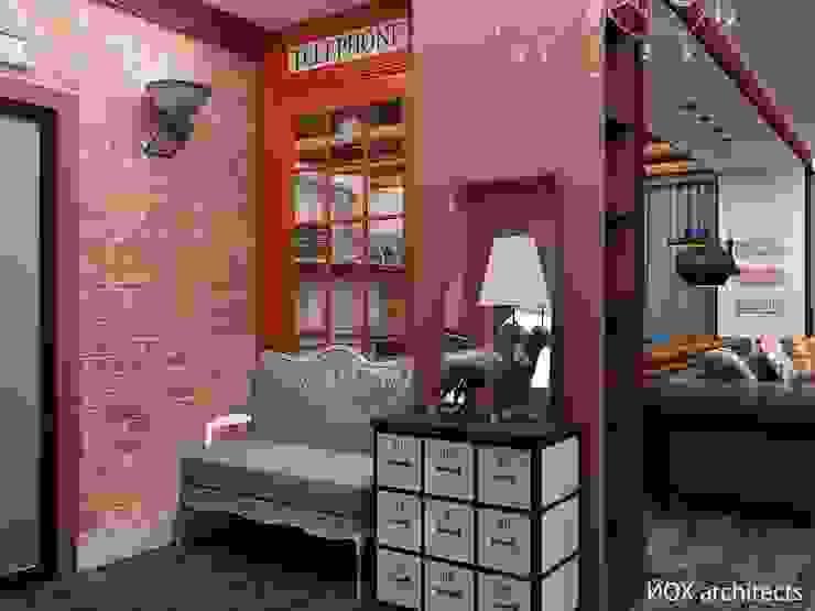Квартира <q>Ироничный Лондон</q> Коридор, прихожая и лестница в эклектичном стиле от ЙОХ architects Эклектичный