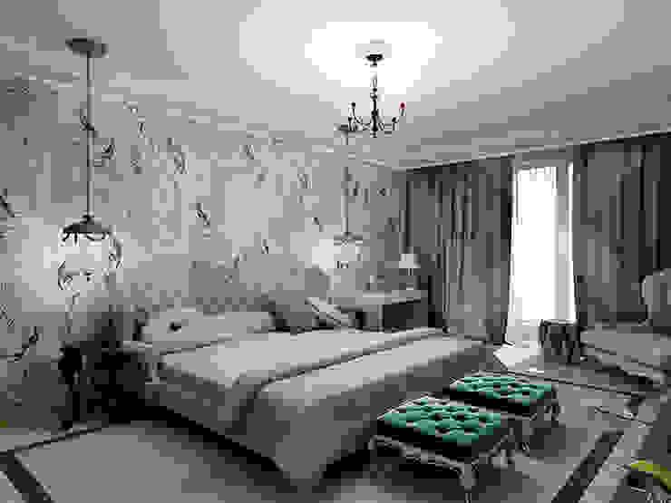 Квартира <q>Райские птицы</q> Спальня в эклектичном стиле от ЙОХ architects Эклектичный