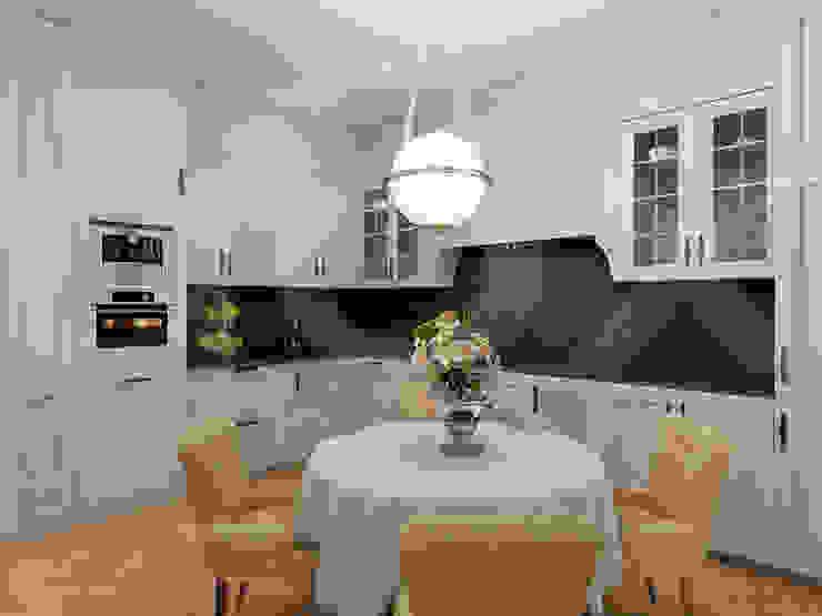 Квартира <q>Райские птицы</q> Кухни в эклектичном стиле от ЙОХ architects Эклектичный